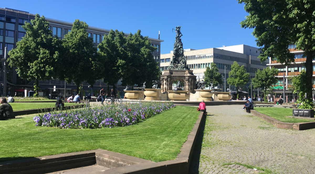 Paradeplatz Mannheim in Baden-Württemberg