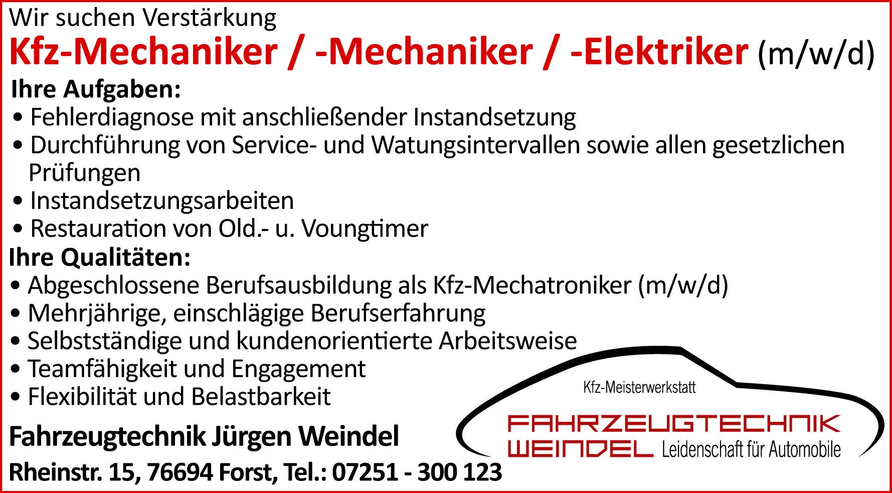 Fahrzeugtechnik Weindel