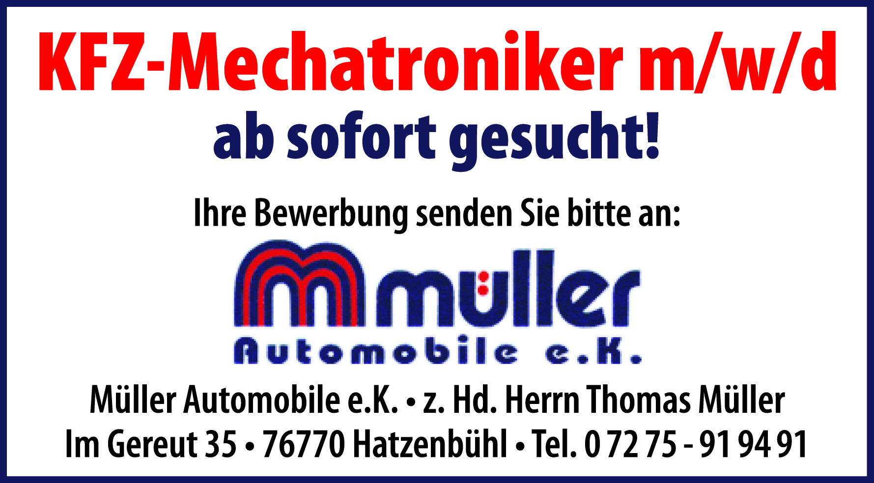Müller Automobile e.K.
