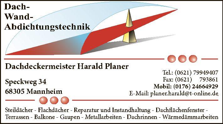 Dachdeckermeister Harald Planer