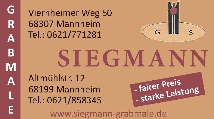 Grabmale Siegmann