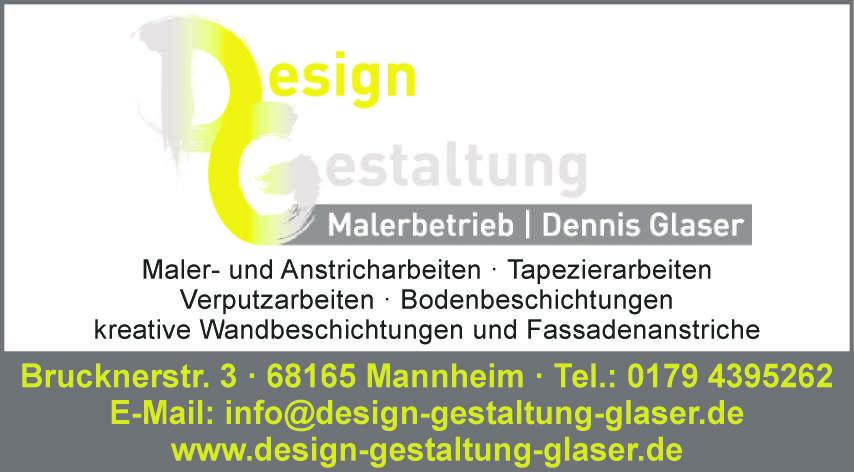 Design Gestaltung, Malerbetrieb Dennis Glaser