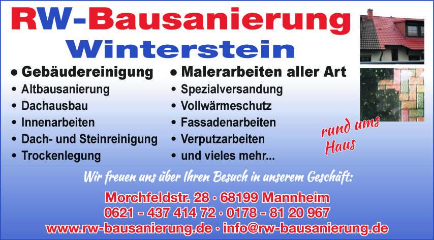 RW-Bausanierung Winterstein