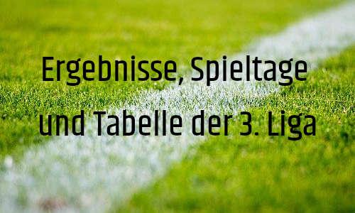 Ergebnisse der 3. Liga, Fußball