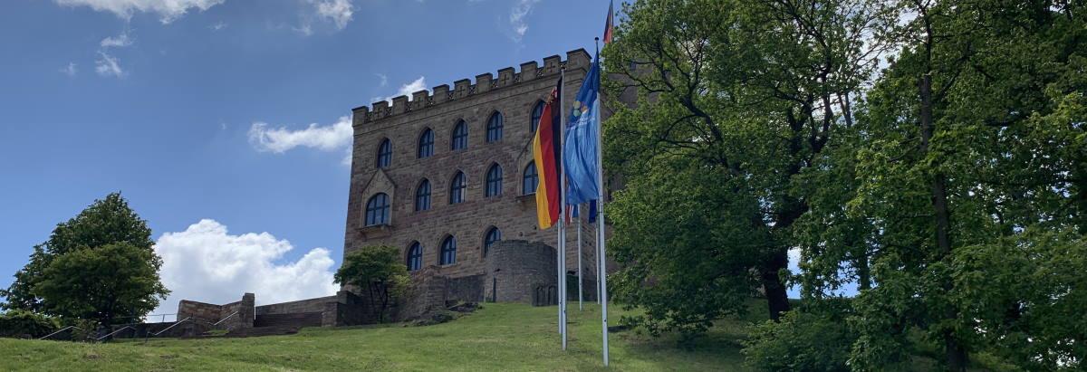 Hambacher Schloss in Neustadt an der Weinstraße, Wiege der deutschen Demokratie